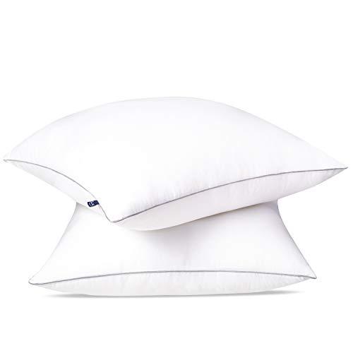 BedStory Kopfkissen 80x80 2er Set, Kissen aus Mirkofarsen 3000g Füllung, Effektive Unterstützung für Alle Schlafpositionen,Bequmer Weicher und Atmungsaktiver Kissen