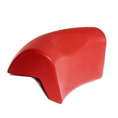 ASDFGH PU Wasserdicht Badewannenkissen, Badekissen mit saugnäpfen Weiches Anti-rutsch Wellness Kissen für Nacken Atmungsaktive Bad Kissen Für whirlpoolbadewanne-Rot