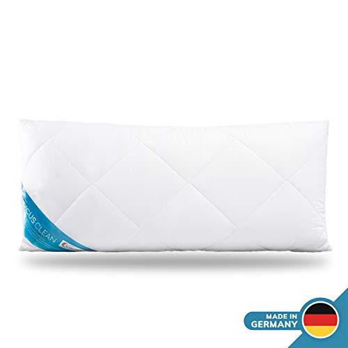 Schlafmond Medicus Clean Allergiker Kopfkissen 40 x 80 cm, Kissen mit anpassbarer Füllmenge, Baumwolle, bis 95 Grad waschbar, Made in Germany