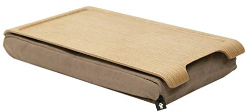 bosign - Knietablett - Mini Laptray - Laptop-Kissen - Natur-Weide - 43 x 23 x 6,5 cm, Beige
