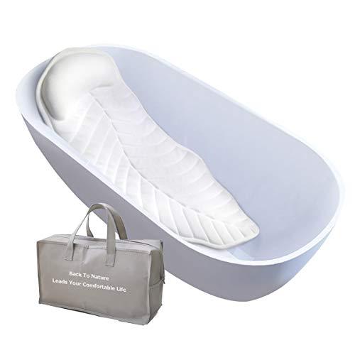 Badewannenkissen mit Saugnäpfe Badewanne Nackenkissen Komfort Badewannenmatten mit Kissen