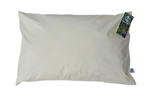 myZirbe Zirbenkissen Kopfkissen für erholsamen, entspannten Schlaf gefüllt mit Zirbenflocken aus 100% Alpen Zirbenholz Größe: 60x40 cm, Größe:40 x 60 cm