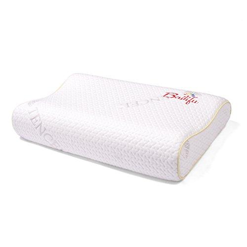 Heinerrs Kinder Latex-Kissen mit Kissenbezug, natürliches und gesundes Kleinkind-Kissen zum Schlafen, weiß, 19,7 x 11,8 x 8,9 cm (geeignet für 3–16 Jahre)