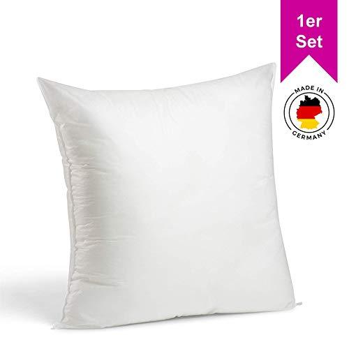 LILENO HOME 1er Set Kissenfüllung 80 x 80 cm - waschbares Innenkissen geeignet für Allergiker - Polyester Kisseninlet als Couchkissen, Sofa Kissen, Cocktailkissen und Kopfkissen