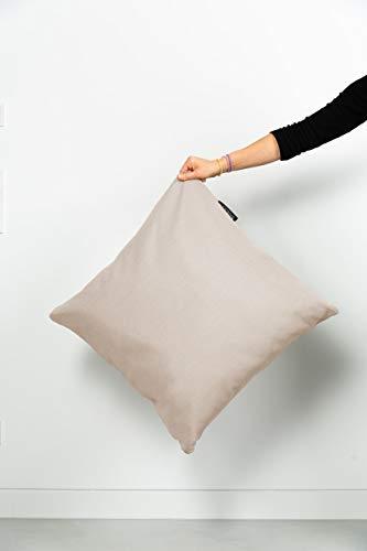 BADESOFA Premium Design Badewannenkissen * Badekissen * Kopfkissen zum Baden * Kopfstütze Nackenstütze Rückenpolster * Badewannenverkleiner * Größe M 60x60x20 cm Perlmutt