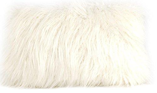 Nielsen Kissenbezug Keller, 30x50 cm, Bright White (weiß), extra flauschig und weich, Kuschelkissen, Dekokissen, Fellkissen, modernes Zierkissen, Sofakissen, dekorativ und elegant
