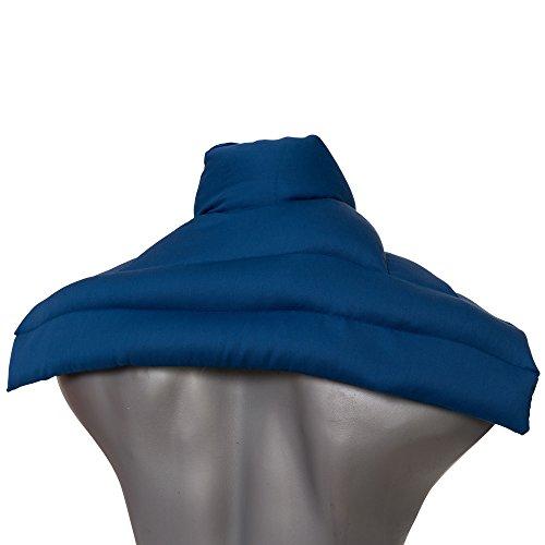 Bio-Körnerkissen Schulter & Nackenkissen mit Kragen. Gute Wärme für den Nacken. Eine Alternative zum Nackenhörnchen | Bio-Stoff enzianblau