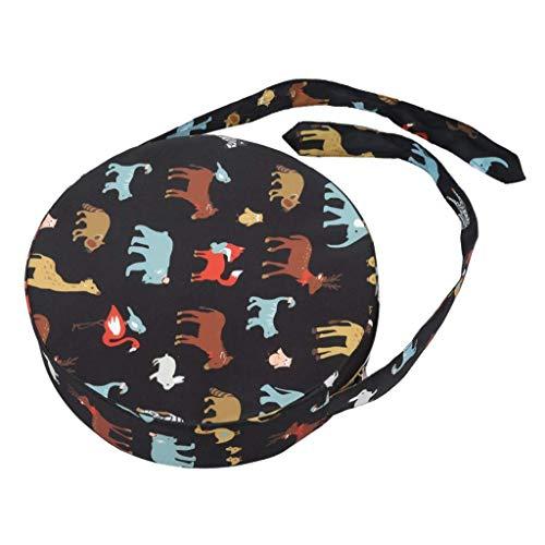 Sitzerhöhung für Esszimmerstuhl Erhöhungskissen Tragbare Hochstuhlpolster Dicker Stuhl Erhöhendes rundes Kleinkindkissen Rundes Kissen 34 * 34 * 10 cm E.