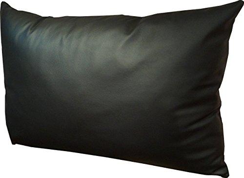 Quattro Meble Schwarz Echt Lederkissen 40 x 60cm Sofa & Stuhl Deko Kissen Echtleder Rückenkissen Rindsleder - Volleder Leder Zierkissen Modell 1el
