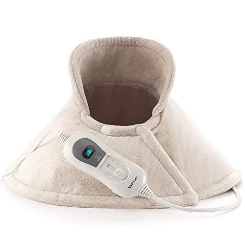MVPower Heizkissen für Rücken Schulter Nacken,60 X 62 cm Wärmekissen mit 3 Temperaturstufen, Nackenwärmekissen mit Überhitzungsschutz und 90 Min Abschaltautomatik, waschbar