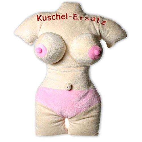 Close Up Sexy Frau Kuschel-Ersatz Kissen/Plüschkissen hautfarben, Bestickt ca. 45cm hoch