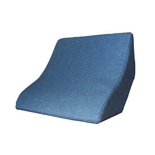 Lesekissen und Rückenstütze für optimale Sitzposition. Keilkissen, Rückenkissen, Fernsehkissen, Ergokissen, Farbe: blau