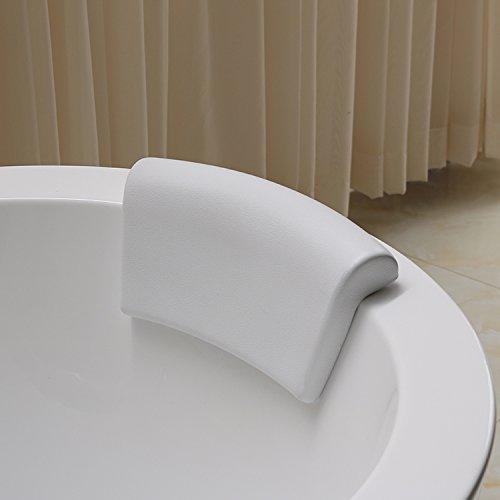 Bathtub Pillows Pingofm Pingofm Quadratische Kissen Badewanne Kissen PU WEISS Badewanne Kissen Kissen gemeinsame Sauger Badewannenkissen?Weiß