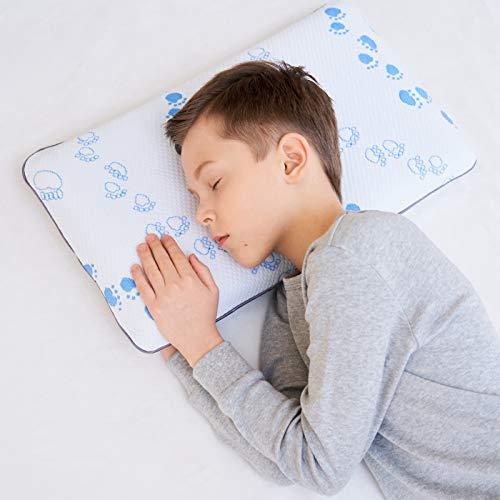 Memory Foam Kinderkissen weiches Nackenstützkissen flaches Kissen für Kinder (4-12 Jahre)
