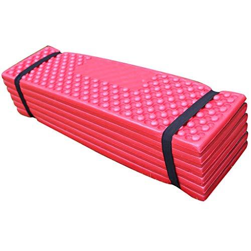 SiSit Faltbares XPE Sitzkissen Outdoor, Faltbares Sitzmatte Thermokissen Wasserdicht für Unterwegs, Leichtes Picknickmatte mit Transporttasche, mit Schutz vor Kälte, Nässe, Schmutz (rot)