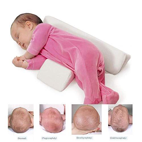 YUY Baby Shaping Styling Kissen Anti-Rollover Seite Schlafkissen Dreieck Baby Positionierungskissen,Pink