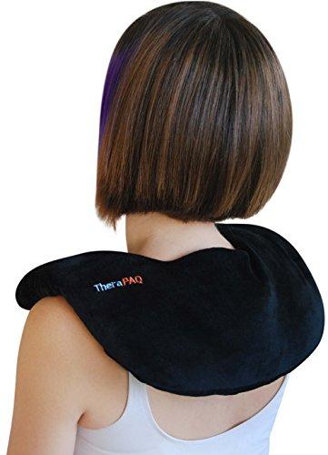 Heizkissen für Nacken und Schulter zur Schmerzlinderung von TheraPAQ – Für die natürliche feuchte Wärmetherapie oder als Kühlkompresse - Wiederverwendbar, mikrowellenbeheizter Wickel– Nicht parfümiert