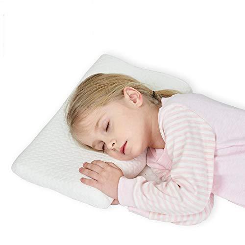 Gesundheit Kinder Kissen für Bett Schlafen Hypoallergenic Memory Schaum kinderkissen Neck-Protector für Kinder(2-5 Jahre)