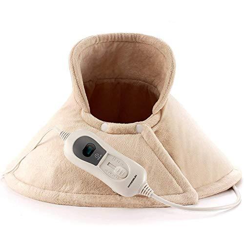 Hangsun Heizkissen Elektrisches Wärmekissen für Schulter Nacken TP530 Elektrisch mit Abschaltautomatik 3 Temperaturstufen, Überhitzungsschutz, Waschbar, 62x60cm