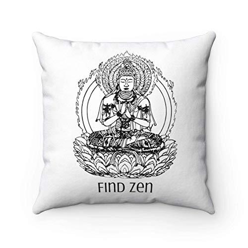 N\A Boho Buddha Kissen Flaming Lotus Buddhismus Dekor Böhmisches Dekor Spiritualität Geschenk für Buddhisten