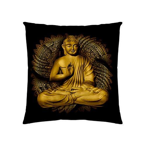 textil Tarrago Kissen mit Füllung 100% Baumwolle Digitaldruck 50 x 50 cm Buddha