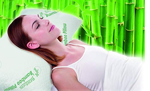 Restform® Bamboo Pillow 40 x 70 cm; mit Memoryschaum, Bezug mit Bambusfasern, 8 in 1 Kissen, Hypoallergen