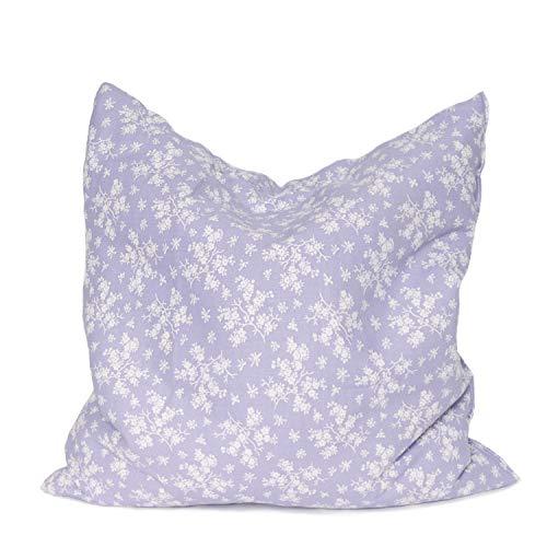 SHD Lavendelkissen Dekokissen durftend 30x30 cm Baumwollbezug lila (Lila)