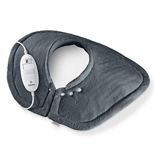 Beurer HK 54 Heizkissen für Schultern und Nacken, kuscheliges Wärmekissen mit 3 Temperaturstufen, Abschaltautomatik, maschinenwaschbar
