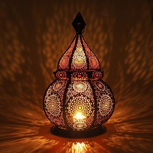 Gadgy ® Orientalische Lampe (36 cm) l Für Kerzen und elektrische Lichter l Innen und Außen Deko l Windbeständig l Marokkanisch Arabisch Orientalisch l Handgemacht