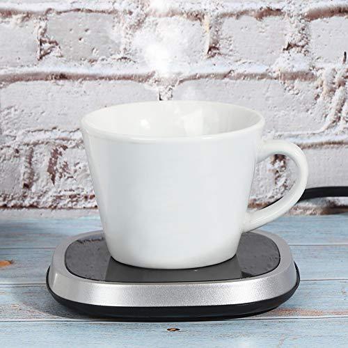 FILFEEL Rutschfester Bottom Desktop Getränkebecherwärmer Schnelles kabelloses Laden Thermostatbecher Matte Kaffee Thermokissen US-Stecker Verwendung von