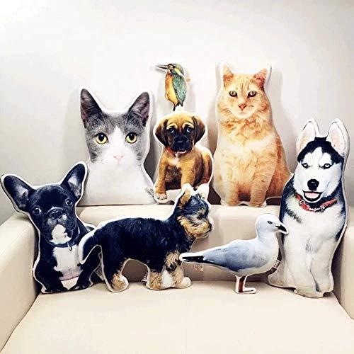 Personalisierte Haustier Kissen Hund Katze geformte Kissen - Personalisierte Doppelseitige 3D-Druck Foto Kissen Weichen Plüschtier Zuhause Sofa Autositz Dekorative Einzigartige Geburtstagsgeschenk