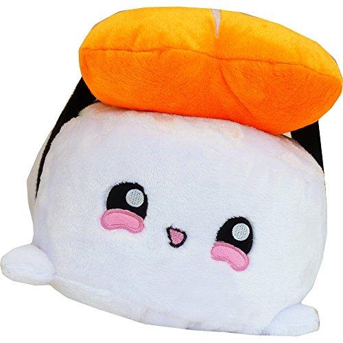 moodrush® XL Shrimp Sushi Smiley Kissen | alle Elemente aufgestickt (Nicht Bedruckt!) | waschbar | ca. 25 x 25 x 34 cm