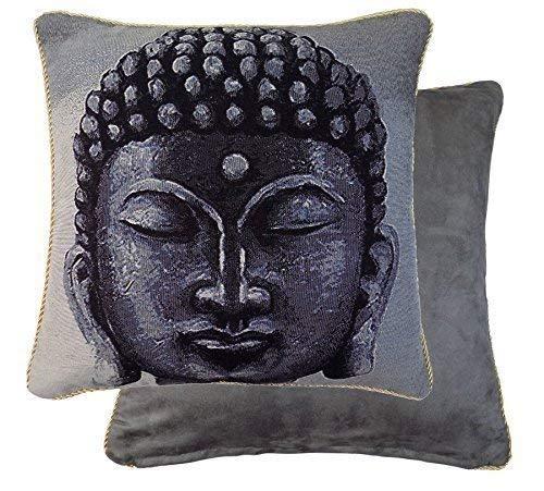 """Gefüllt Buddha Wandteppich Verrohrt Kunstwildleder 18 """" 45cm Kissen"""