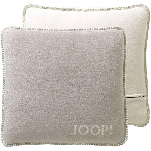 JOOP! Kissen UNI-DOUBLEFACE Kissenbezug Farbe Feder-Ecru Größe 50x50 cm