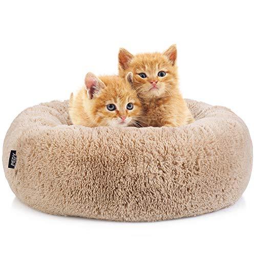 pedy Schöne Tierbett Hundebett Haustier Katzenbett Hundesofa Katzensofa Kissen - Flauschig, Weich u. Waschbar für Katzen und kleine mittlere Hunde (Braun)
