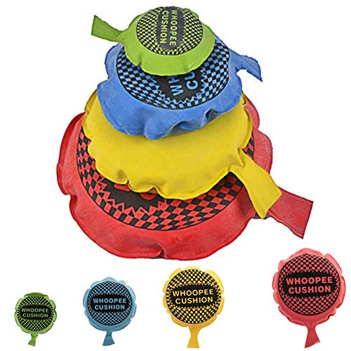 SIMUER Selbstaufblasendes Furzkissen Hygienisch Kein Aufblasen Mit Dem Mund Nötig Lustiges Scherzspielzeug 4PCS (Farbig Sortiert)
