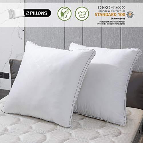 viewstar 2er Set Kopfkissen 80x80 cm, 2 x 1600g Mikrofaser Füllung, Super Weiche & Angenehme Schlafkissen Polster, Bett Kissen 80x80 für Allergiker Atmungsaktiv Komfort