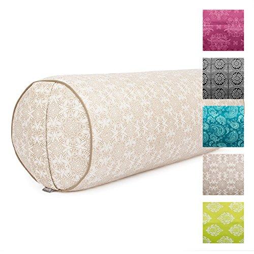"""Yoga-Bolster""""Madurai"""", ecru, Maharaja Collection, Dinkel-Füllung, Bezug aus 100% Baumwolle (Köper), abnehmbar, 65 cm, 23 cm Durchmesser"""