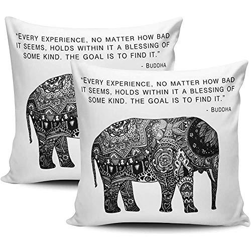 NA Home Kissenbezug Buddha Henna Elefant Weisheit werfen Kissenbezüge Kissen dekorative Kissenbezug doppelseitig bedrucktes Quadrat
