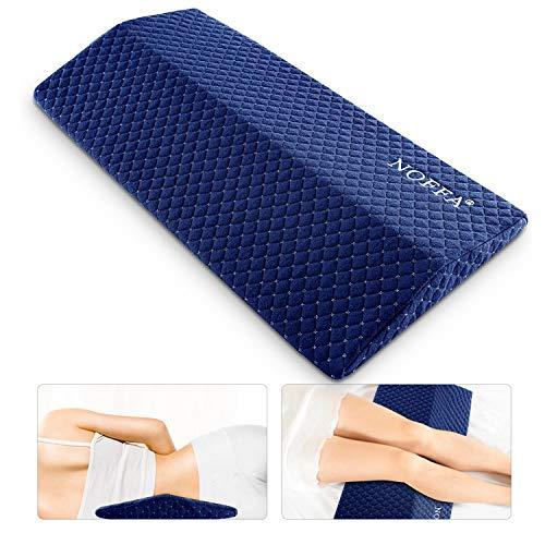 NOFFA Memory Foam Lendenkissen Schlafen Lumbar Support, Rückenkissen Bett, Orthopädisch Lendenkissen Bett stützen die Taille, Rücken, Hüft- und Bein, Weich Justierbare Härte, 60 * 30cm