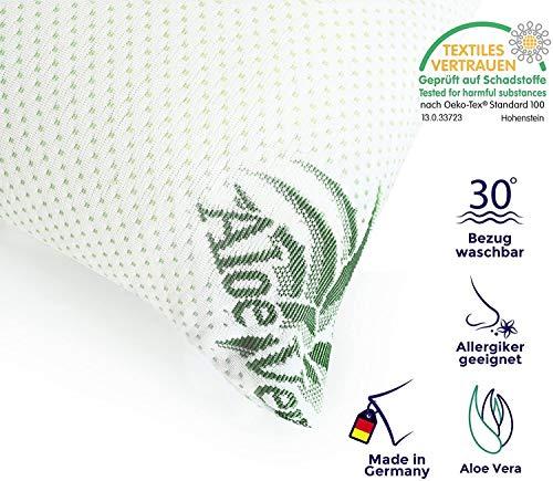 Mister Sandman Orthopädisches Nackenkissen 40 x 80 cm, Aloe Vera Premium Schlafkissen, Nackenstützkissen mit pflegendem Premium Bezug